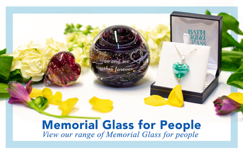 creamtion ashes into Bath Glass for funeral directors