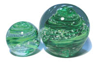 ashes into bath glass paperweight