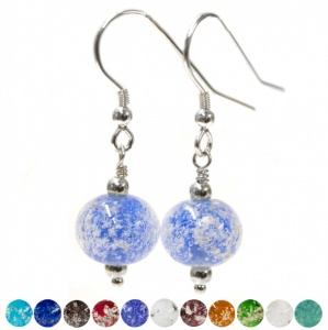 Ashes Into Charm Bead glass jewellery Earrings