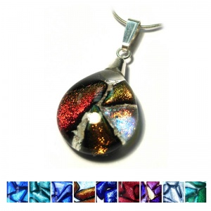 Ashes into dichroic  Jewellery - Small Mosaic Dichroic Pendant