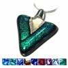 Ashes into Dichroic Triangle Pendant jewellery on silver