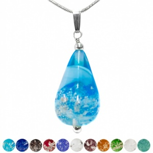Pets Glass with Ashes into a Drop Pendant
