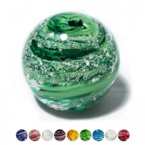 Ashes into Bath glass Paperweight - Small