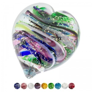 Glass with Ashes for pets Handheld Memory Heart